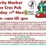Croc Pub Charity Market – 19/11